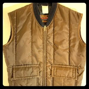 Vintage Walls Blizzard Pruf Insulated Vest Brown